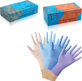 Smooth Surface Powdered Latex Examination Gloves